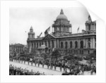 Scene outside the City Hall in Belfast during the opening ceremony by Staff