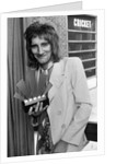 Rod Stewart with his Top Male Singer Award by Staff
