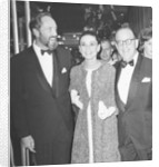 Audrey Hepburn arrives for the premiere of My Fair Lady in New York with husband Mel Ferrer and Stan Holloway by Anonymous