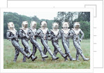 Extras dressed as Cybermen by Anonymous
