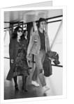 John Lennon with his wife Yoko Ono leaving Heathrow Airport by Anonymous