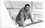 Richard Burton aboard his yacht by Staff