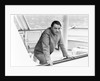 Richard Burton aboard his yacht by Staff