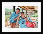 Paul Gascoigne and Terry Butcher by Anonymous