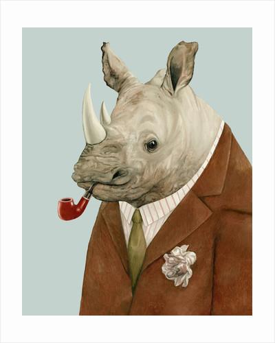 Rhino Art Print by Animal Crew