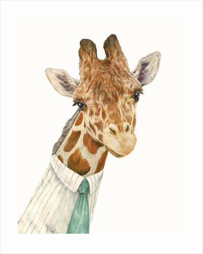 Male Giraffe Art Print by Animal Crew