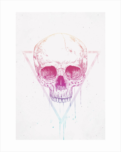 Skull in Triangles by Balazs Solti