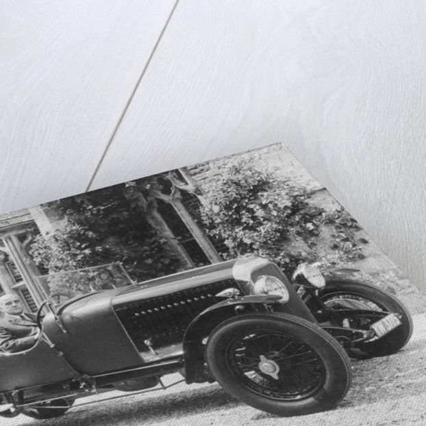 WO Bentley in the driving seat of a Bentley car by Unknown