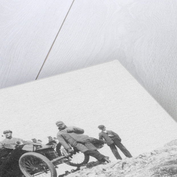 A veteran car and passengers at Great Orme's Head by Anonymous