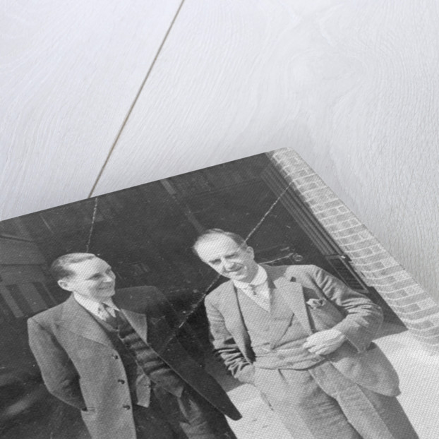 Cecil Kimber (on the right) by Unknown