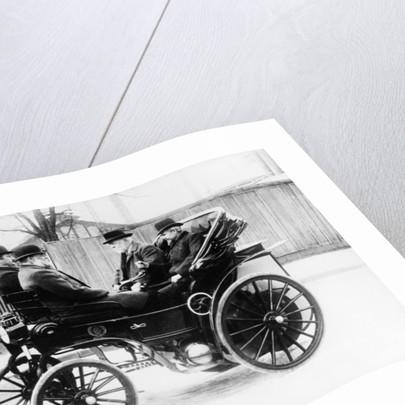 Gottlieb Daimler in an 1891 Canstatt Daimler by Anonymous