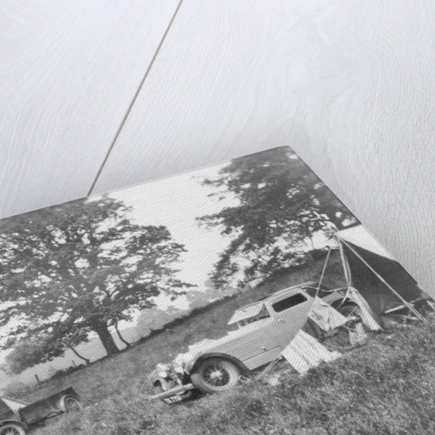Camping scene by Anonymous