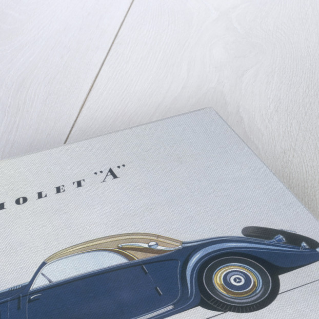 Poster advertising Mercedes-Benz cars by Anonymous