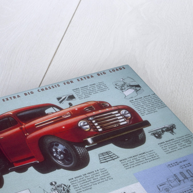 Poster advertising a Ford Truck series F-6 by Anonymous