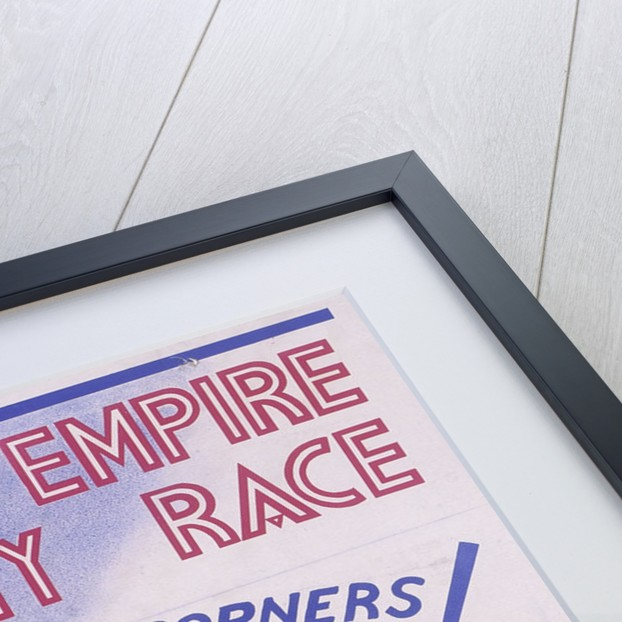 Poster advertising the British Empire Trophy Race, Brooklands, Surrey by Unknown