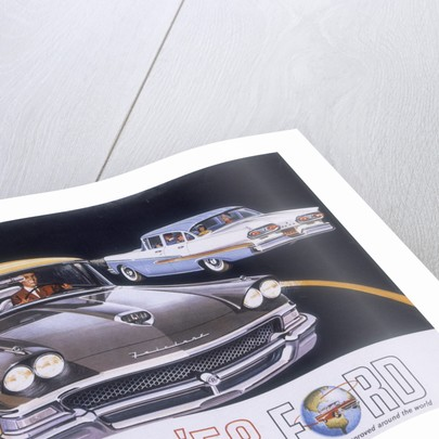 Poster advertising the Ford Fairlane car by Anonymous