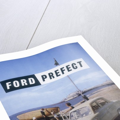 Poster advertising a Ford Prefect car, 1956 by Unknown