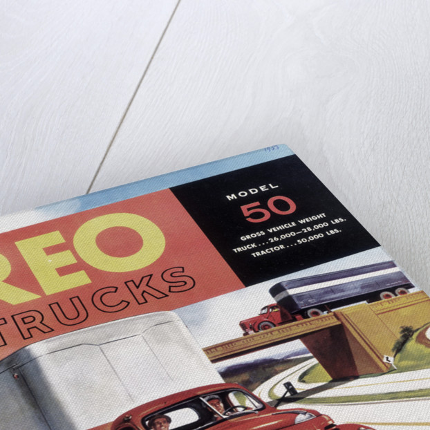 Poster advertising REO trucks by Anonymous