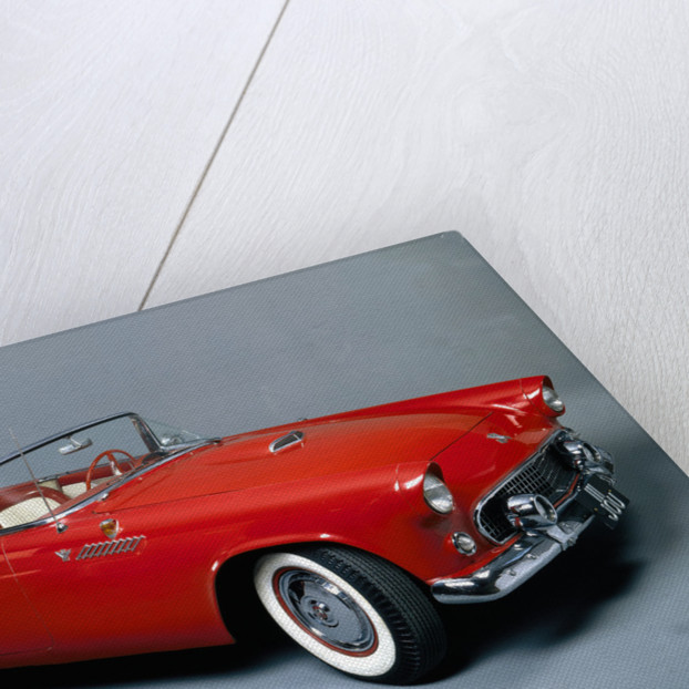 A 1955 Ford Thunderbird by Anonymous