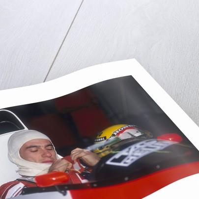 Ayrton Senna in his McLaren-Honda by Anonymous