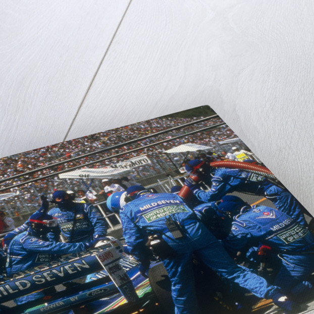 Pit stop for Michael Schumacher's Benetton-Ford by Anonymous