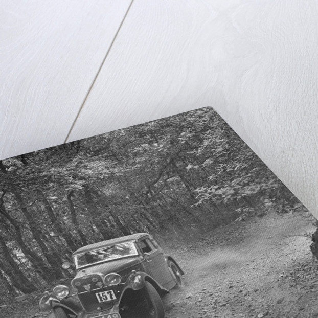 Singer coupe competing in the B&HMC Brighton-Beer Trial, Fingle Bridge Hill, Devon, 1934 by Bill Brunell