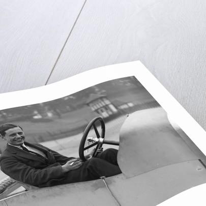 Bertie Kensington Moir in an Aston Martin crude test body, Brooklands, c1921 by Bill Brunell