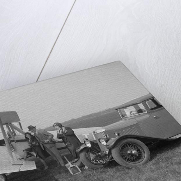 Lea-Francis V type saloon and Blackburn Bluebird aeroplane, c1930 by Bill Brunell