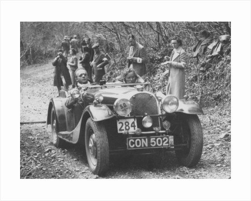 1937 Morgan in the MCC Land's End Trial by Anonymous
