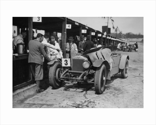 Dudley Froy with the 4.5 litre Invicta S type, at Brooklands, Surrey, 1931 by Unknown