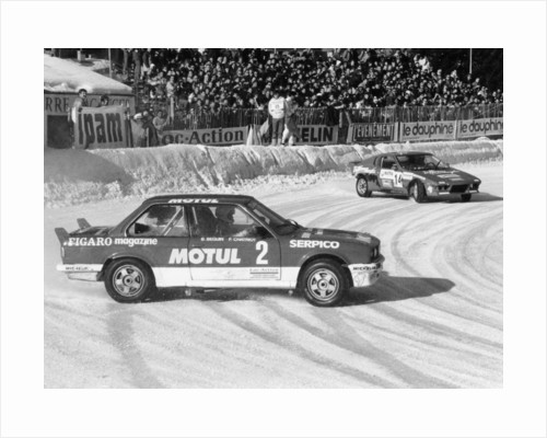 A BMW 325IX during the Chamonix Ice Race by Anonymous