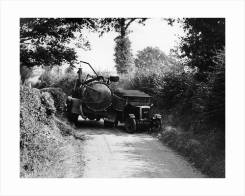 Bedford truck with Jowett by Anonymous