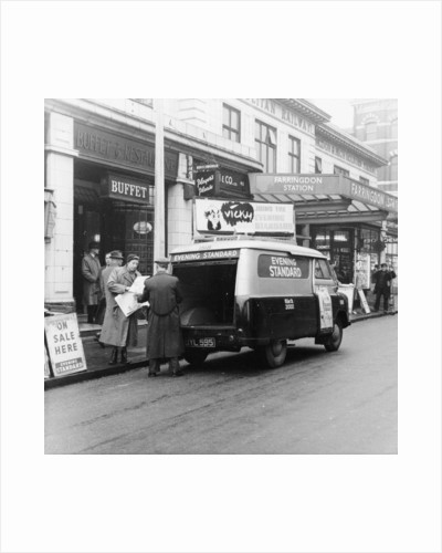 1958 Bedford CA van delivering the Evening Standard by Anonymous