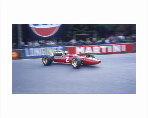 Ludovico Scarfiotti driving a Ferrari by Anonymous