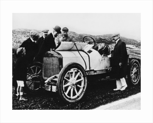 King Albert I of Belgium inspecting a car by Anonymous