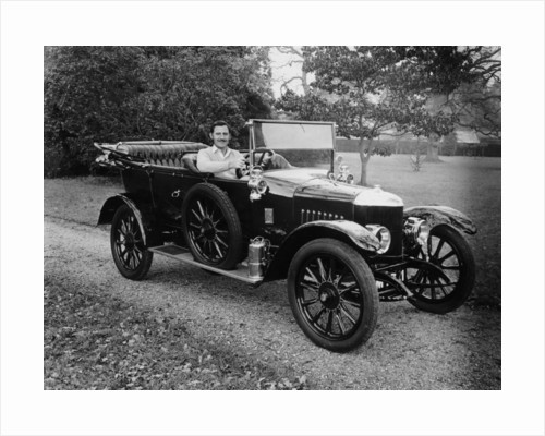 Graham Hill in a 1913 Newton Bennett by Anonymous