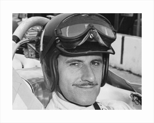 Graham Hill in cockpit of Lola T90 by Anonymous