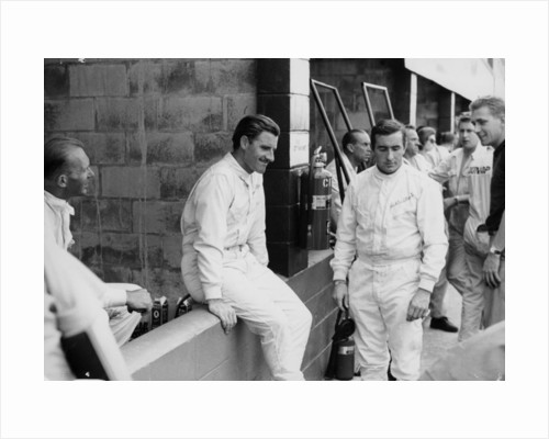 Graham Hill and Jackie Stewart, 1960s by Unknown