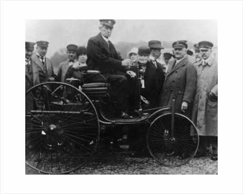 Karl Benz in his Benz motor car by Anonymous