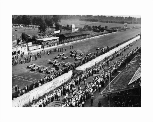 Start of the Italian Grand Prix, Monza, early 1950s by Unknown