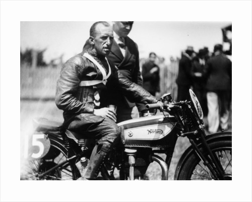 Jimmy Guthrie on Norton motorcycle by Anonymous