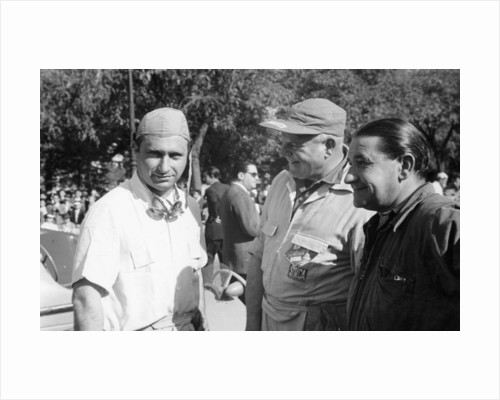 Juan Manuel Fangio, (1950s?) by Unknown