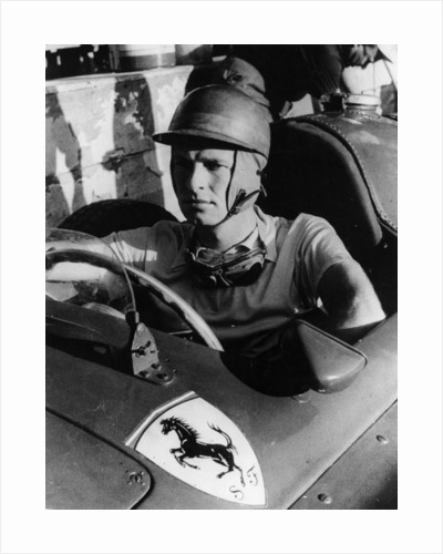 Peter Collins in a Ferrari by Anonymous
