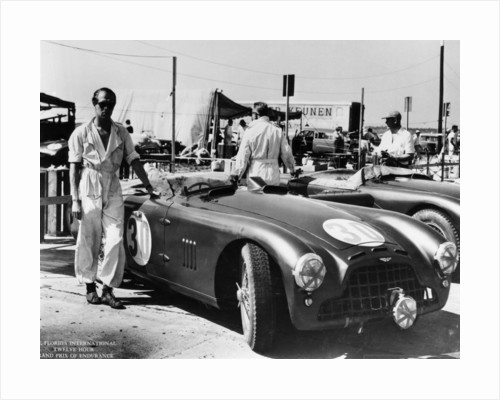 Peter Collins with an Aston Martin, Sebring, Florida, USA, 1950s by Unknown