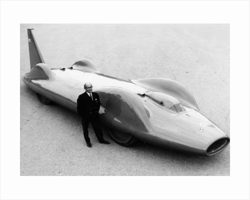 Leo Villa with the 1964 Bluebird by Anonymous