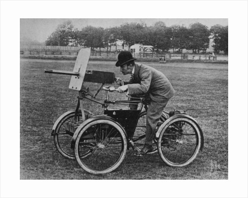 Simms 'Motor Scout' armoured quadricycle by Anonymous