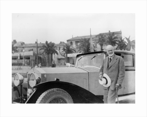 Sir Henry Royce, with Rolls-Royce car by Unknown