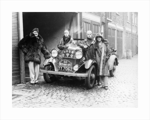 J Walters, JA Driskell, R Silva and ID Stuthers with a Ford V8 by Anonymous
