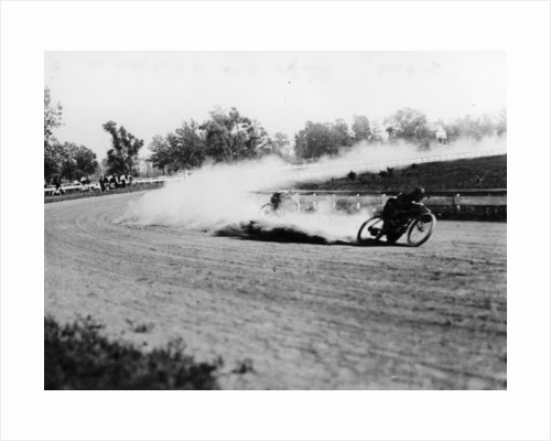 Dirt track motorbike racing by Anonymous