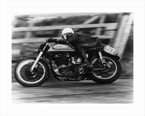 A Norton in action in the Isle of Man TT, 1950 by Unknown